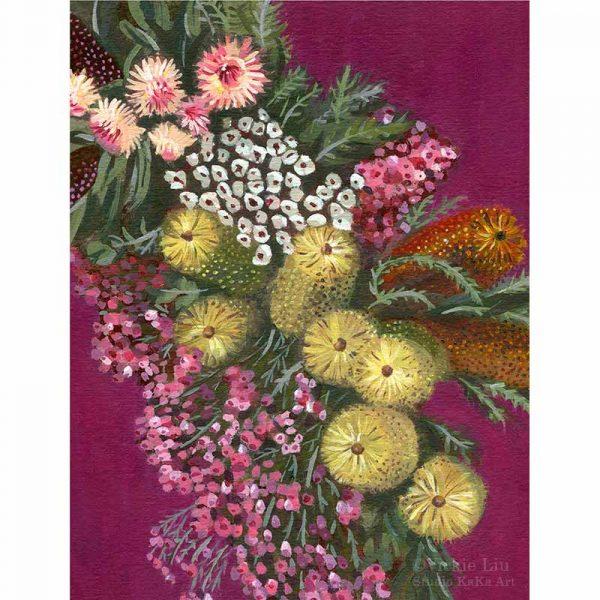 Australian Native Flower Chain Art Print