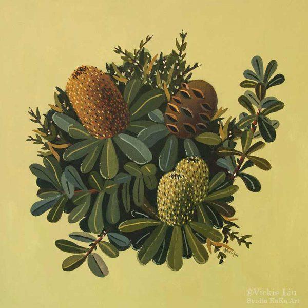 Banksia Green Art Print