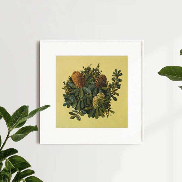 Banksia Green Art Print Insitu