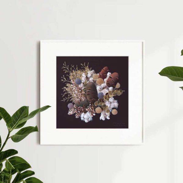 Banksia and Cotton Explosion Art Print Insitu