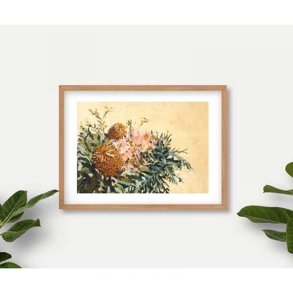 Gold Banksia Art Print Insitu