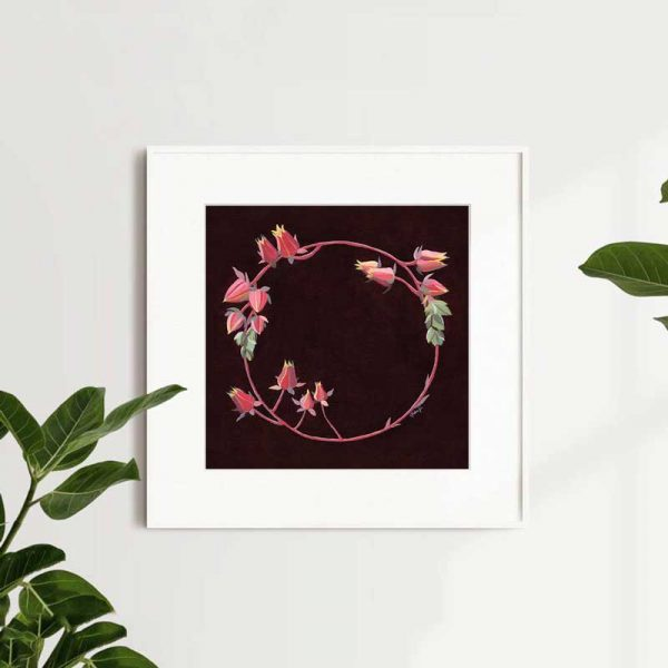 Succulent Wreath Art Print Insitu