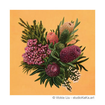 Australian Native floral art print