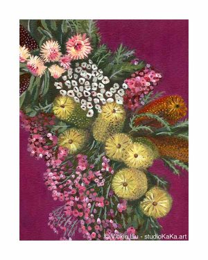 Australian Banksia Flower Art Print