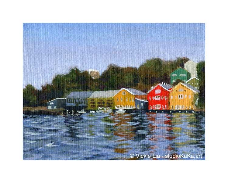 Balmain Wharf Harbour Landscape Art
