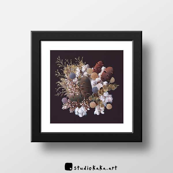 Banksia and cotton art print f