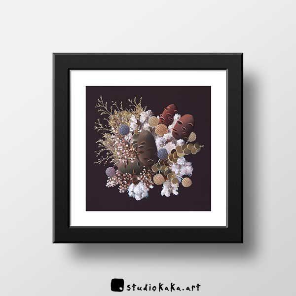 Banksia and cotton art print f