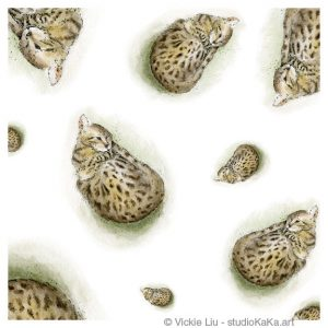 Bengal Cats Art Print