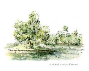Urban Oasis Landscape Art Print