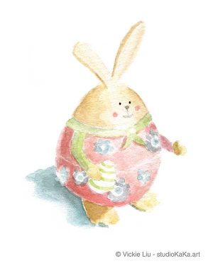 Easter Bunny Pink Art