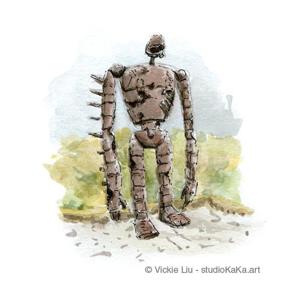 studio ghibli robot art print