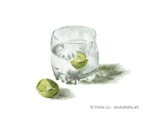 Gin and Tonic Art Print