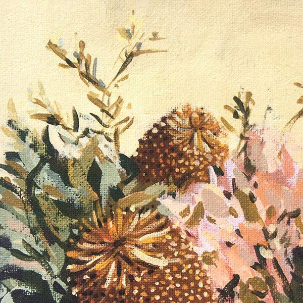 Australian botanical banksia art detail