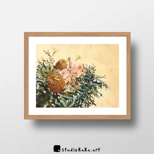 Australian botanical banksia art