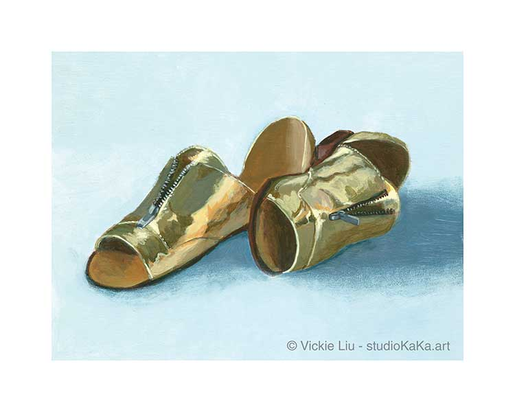 Gold Shoe Art Print