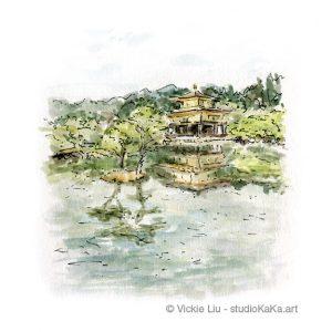 Golden Temple Kyoto Art Print