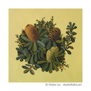 Green Banksia Art Print