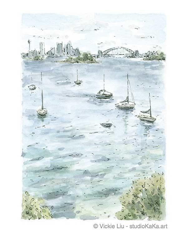 Hermitage Foreshore Sydney Harbour Art