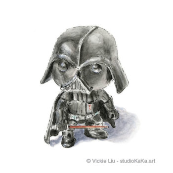 mini darth vader art print