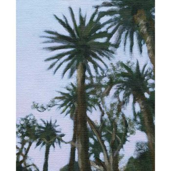 palm tree sunset art print