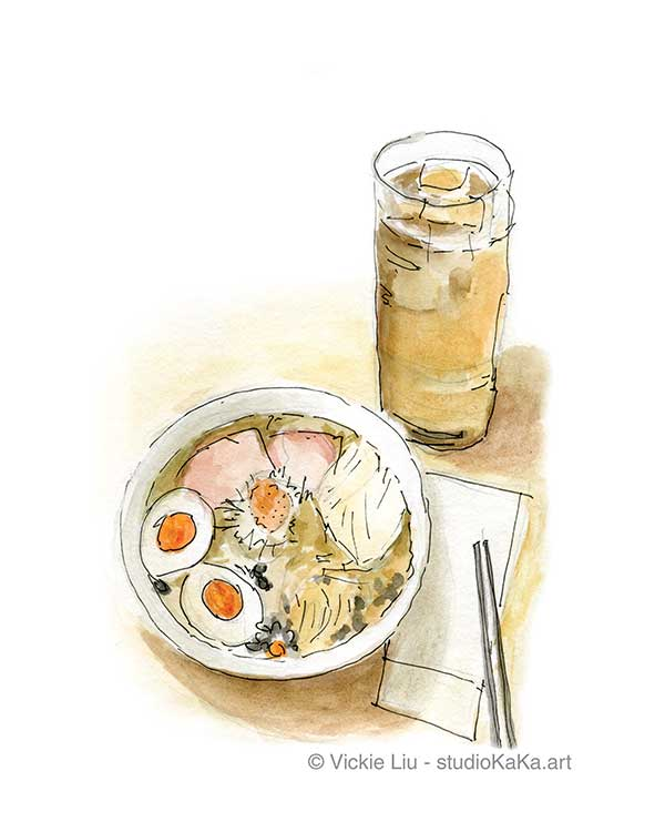 Food Ramen Noodle Illustration Art