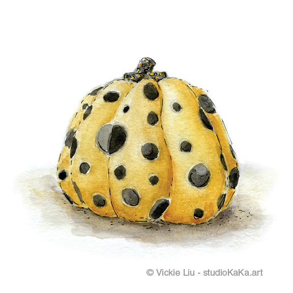 Spotted Pumpkin Art Print