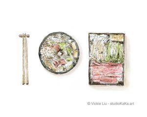 Japanese Food Hot Pot Art Print