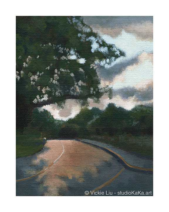 Sunset Park Road Art Print