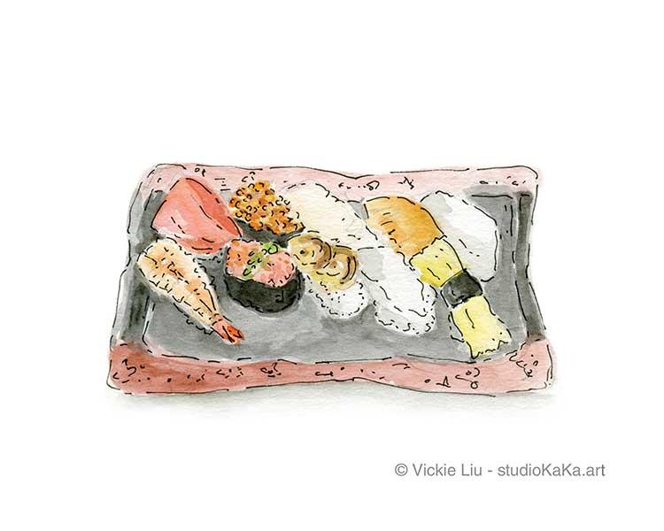 Sushi Takeaway Art Print