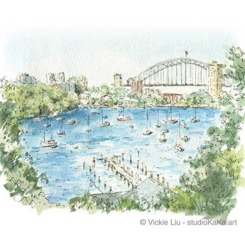Sydney Harbour Waverton Art Print