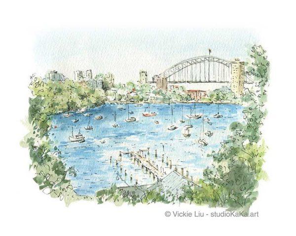 Sydney Harbour Waverton Art Print