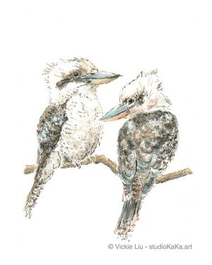 Two Kookaburras art print