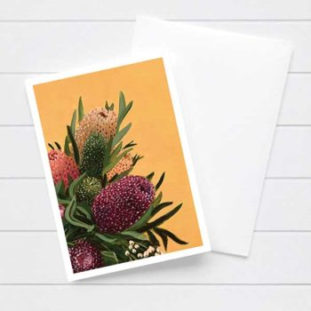 Australian Banksia Flower Card