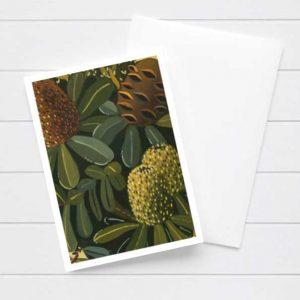 Green Banksia Australian Card
