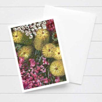 Australian Native Flower Chain Card