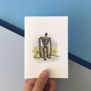 studio ghibli robot card