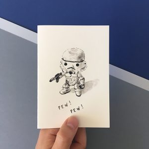 stormtrooper star wars card