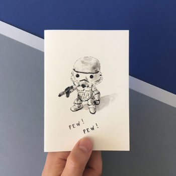 stormtrooper star wars card