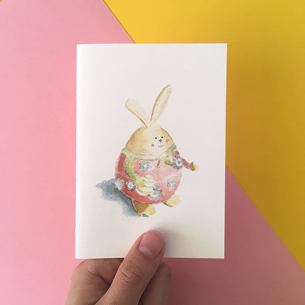 Easter Rabbit Bunny Card