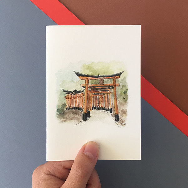 Card Kyoto Red Gates