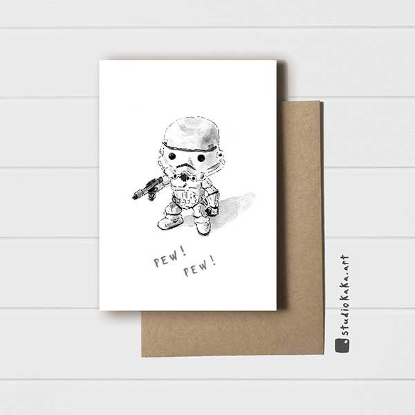 Mini Stormtrooper card