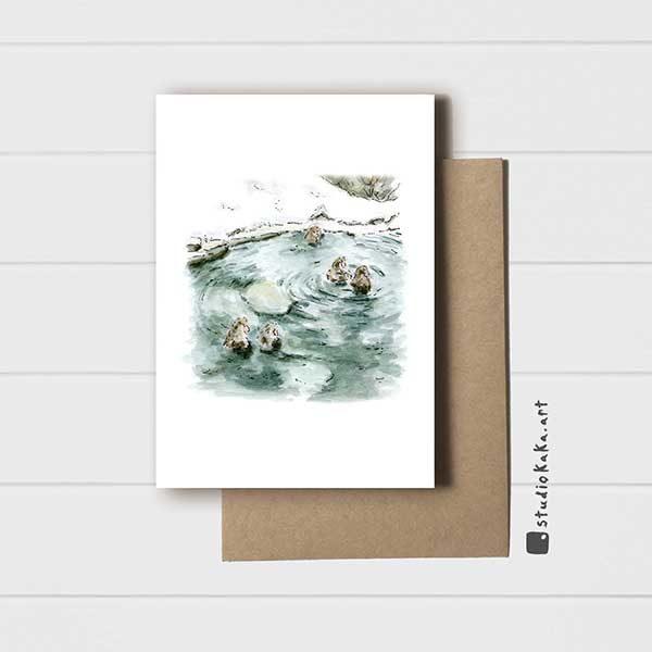 Snow Monkey Onsen Card