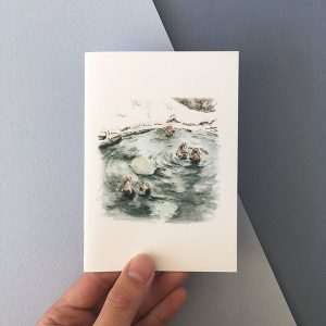 Japanese Snow Monkey Card