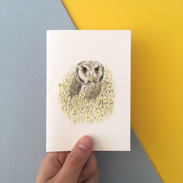 small owl card