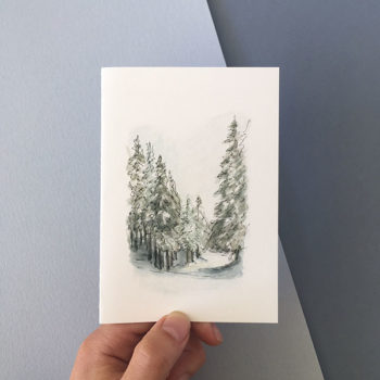 Winter Snow Card