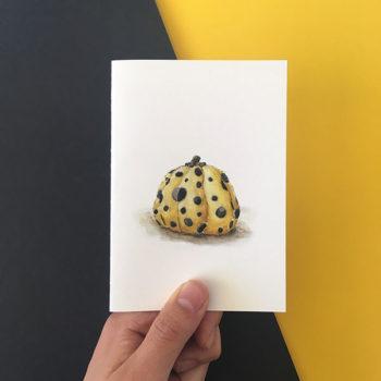 yayoi kusama pumpkin card