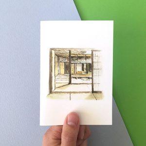 Card Japanese Tatami room