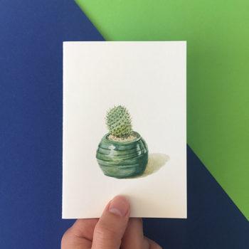 cute cactus card