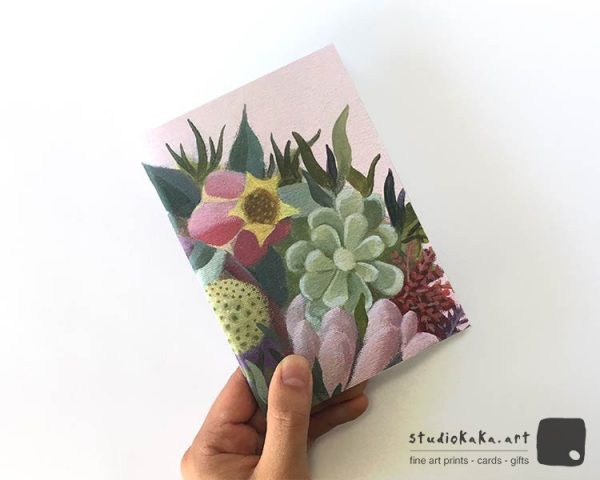 Succulent Flower Pocket Sketchbook