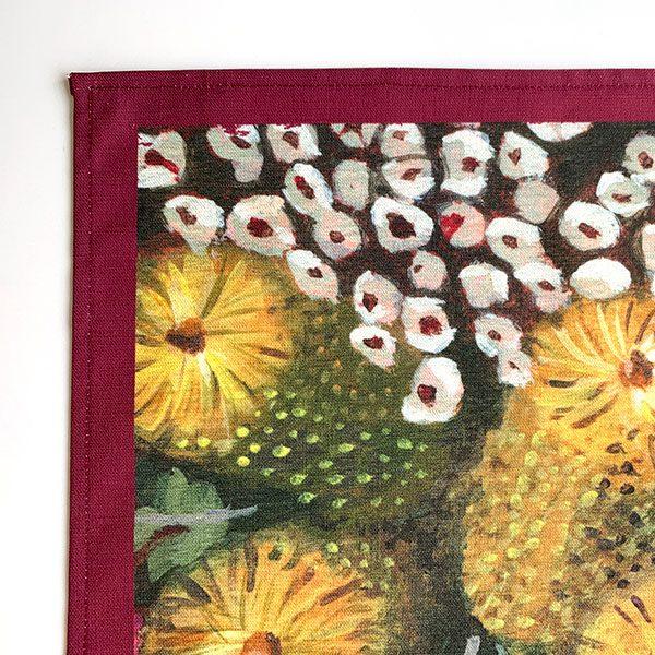 Australian Flower Kitchen Tea Towel Detail